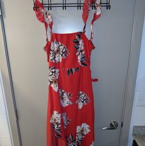 XL floral maxi with cut out back